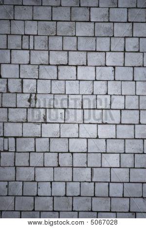 texture of old grey brick wall close up poster