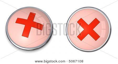 Button Cross Symbol