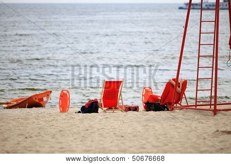 Lifeguard Beach Rescue Equipment Orange Boat