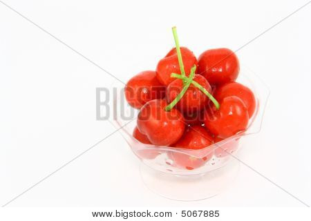 Cherries With White Background