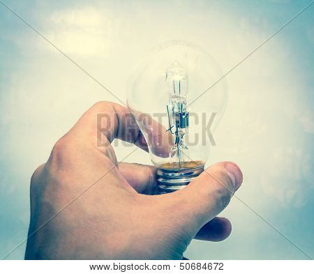 Lightbulb In Hand