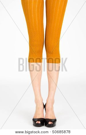 Long slim female legs