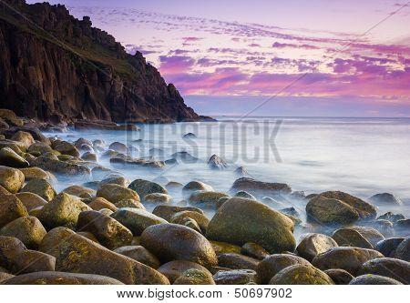 Beautiful Cove At Dusk