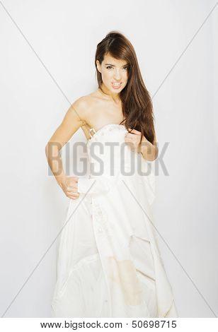torn wedding dress