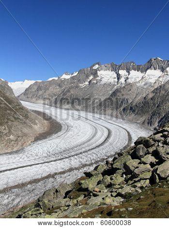 aletsch glacier,  Bettmeralp in Switzerland