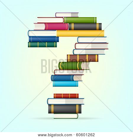 Question from stacks of multi colored books
