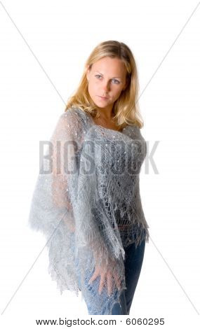 Girl In A Blue Tippet