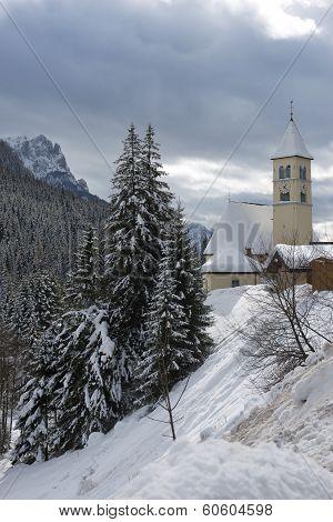 Church In Mazzin Di Fassa