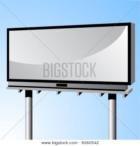 blank urban billboard sign