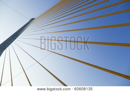 Slings Is The Structure Of The Bridge.