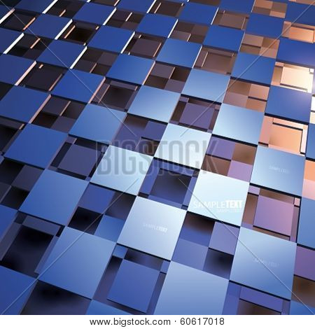 VECTOR blue - orange Abstract Background