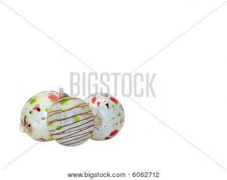 Hand Blown Glass Christmas Bulbs