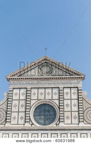 Santa Maria Novella church facade by Leon Battista Alberti located in Florence Italy poster