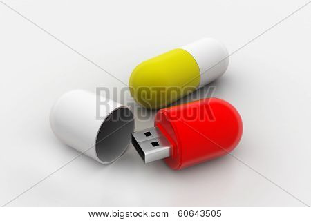 usb flash drive in tablet shape