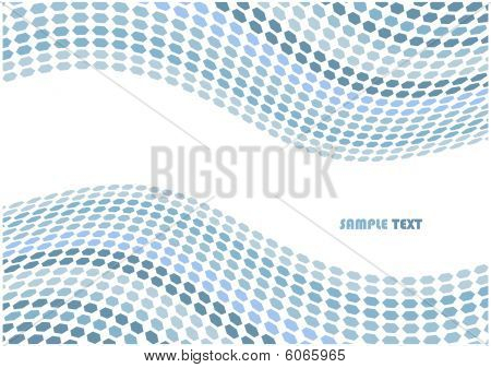 Abstract hex waves vector background with copyspace for your text