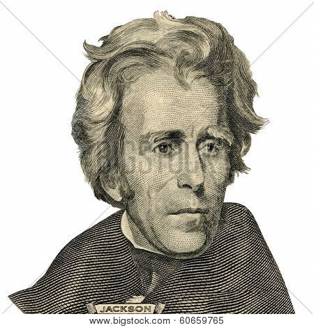 President Andrew Jackson Portrait. (clipping Path)