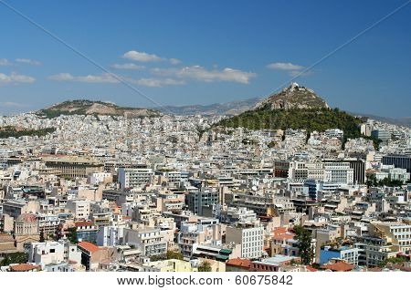 Panorama of Athens, Greece from the Acropolis