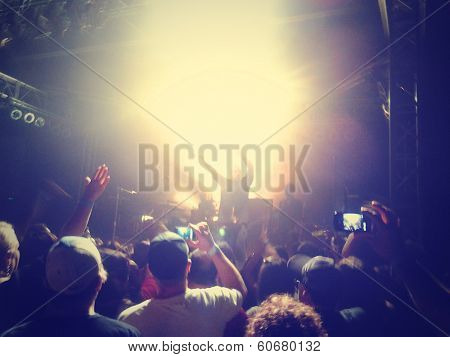 a crowd of people at a concert