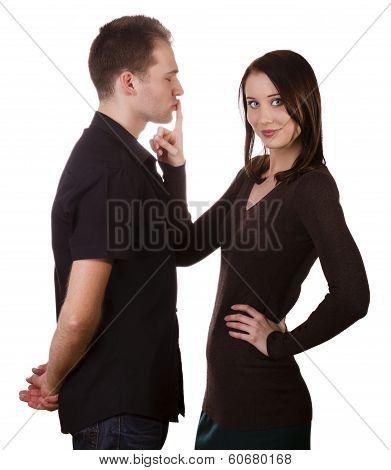 Couple Silence Shut Up