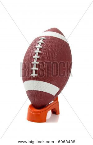 American Football On A Kicking Tee