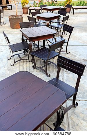 Dining Table Set In Outdoor