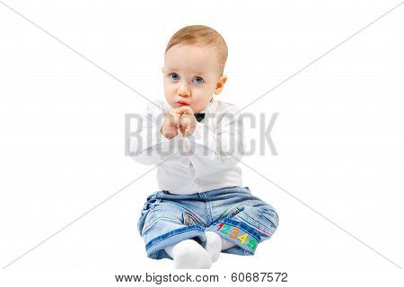 Cute Shy Child
