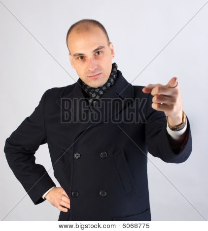 Businessman Pointing At Viewer