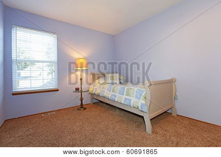 Cozy Lavender Bedroom For A Young Adult