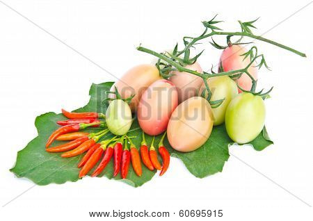 Chilli And Tomatoes.