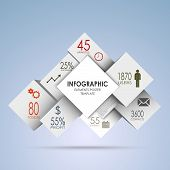 Abstract squares and white cubes info graphic vector eps 10 poster