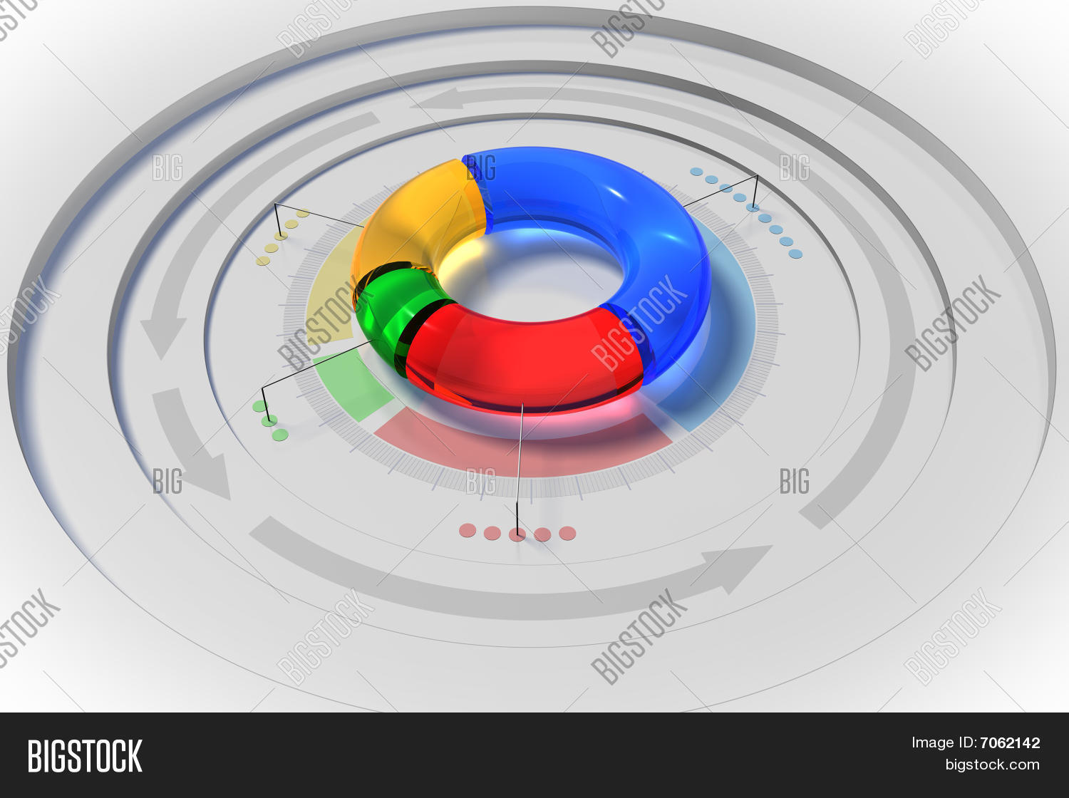 3d Pie Chart Image Photo Free Trial Bigstock