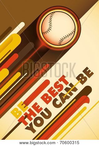 Baseball poster with abstract design. Vector illustration.