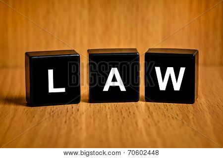 Law Word On Black Block