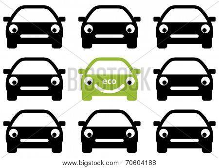 Ecology friendly car concept. Vector.