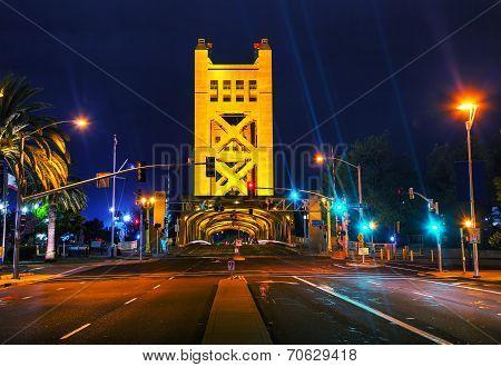 Golden Gates Drawbridge In Sacramento