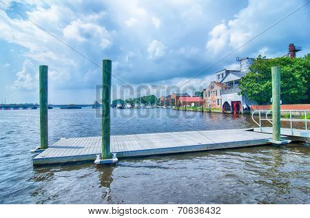 waterfront scenes in little washington north carolina poster
