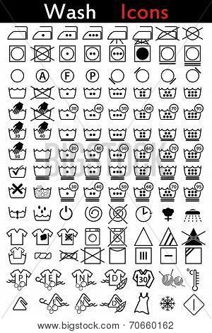 Washing Instruction Icons