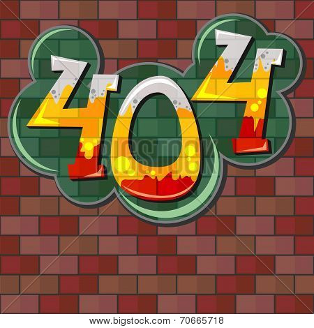 Error 404 Concept With Brick Wall