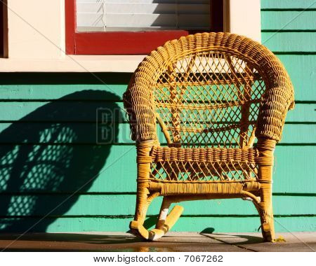 Yellow Wicker Chair