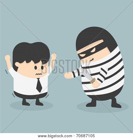 Robbing A Businessman