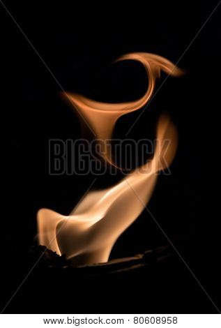Fire flames abstract on black background