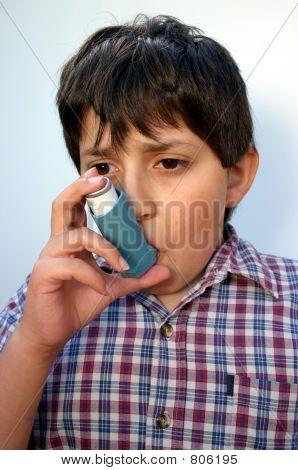 Asthmatic boy