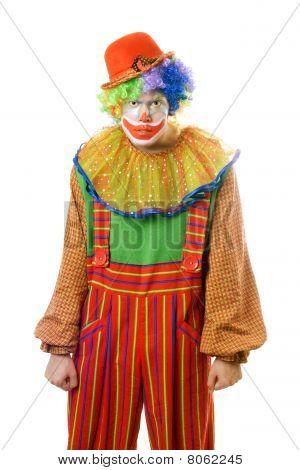 Portrait Of A Ferocious Clown