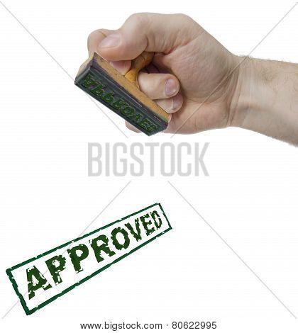 Approved Sign Form Stamp