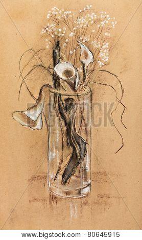 Wooden Snag In Vase