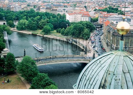 Spree River in the city of Berlin, Germany