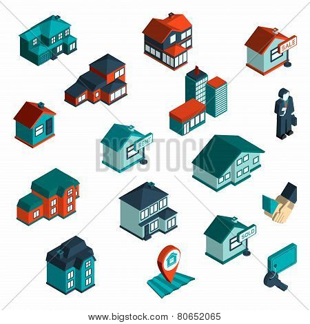 Real Estate Icon Isometric