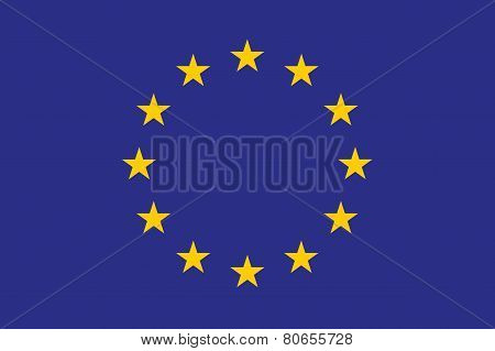 Original And Simple Europe Flag Eu Isolated Vector In Official Colors And Correct Ptoportion