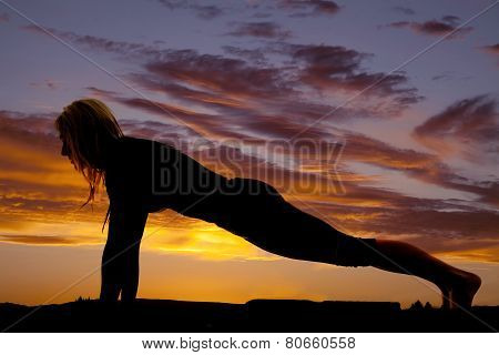 Silhouette Woman From Side Push Up