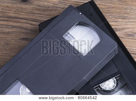 Old retro video tapes